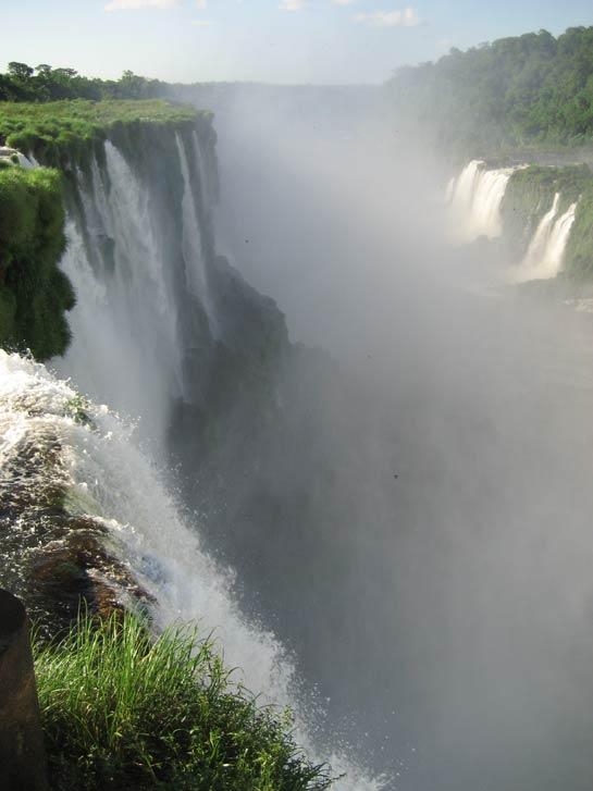 Mist coming up from La Garganta del Diablo at Iguazu falls.