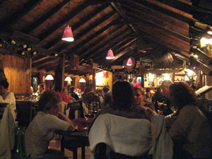Ku restaurant in San Martin de los Andes on the inside