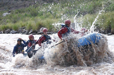 White-water Rafting in Mendoza, Argentina with Ser_O Adventure Travel.