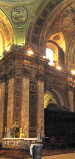 Detail inside Catedral Metropolitana