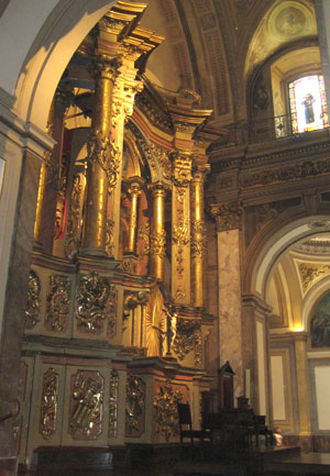 Inside the Catedral Metropolitana in BA.
