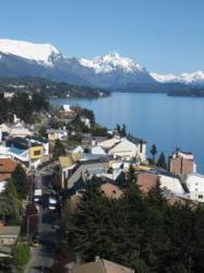 The view of Bariloche out of Hostel 1004's window