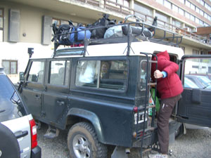 The jeep we took to get to la Morada.