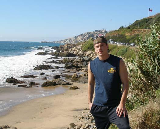 Peter Schuller on a beach somewhere.