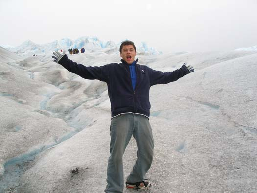 Peter Schuller on a glacier somewhere.
