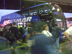 An Andesmar bus in Argentina