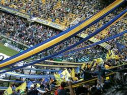 La barra (cheering section) of Boca Juniors