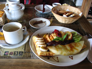 Breakfast at Del Bosque in El Chalten