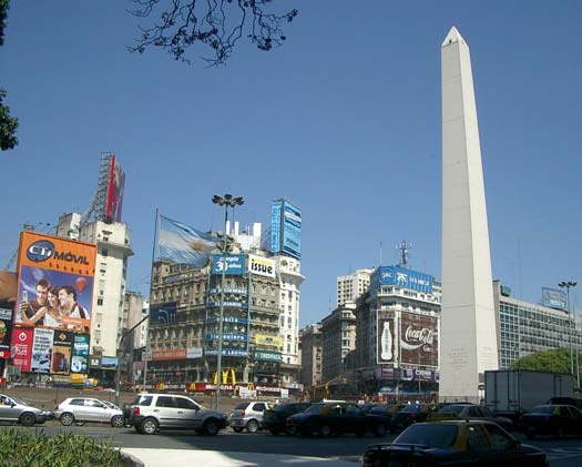 The Buenos Aires Obelisco by day