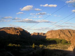 Expansive panoramo of Patagonia around Villa Florentino