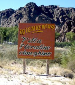 Villa Florentino Ameguino sign