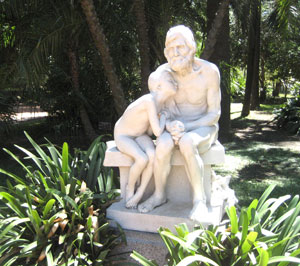 Statues at the Botanical Gardens of Buenos Aires