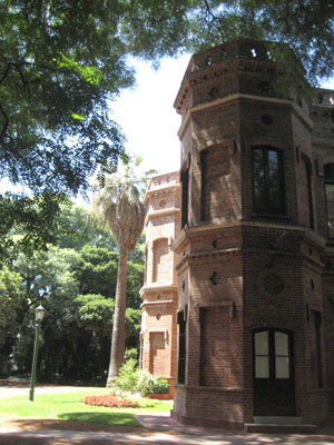 Beautiful old buildings at the Jardin Botanico de Buenos Aires
