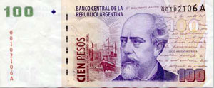 Cien pesos used to be worth something...