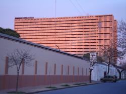 La carcel de Caseros at sunrise