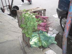 Produce on the sidewalk in Buenos Aires