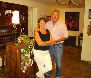 Paola and Mario, owners of Monica Due in San Martin de los Andes