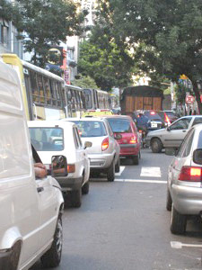 Traffic in Buenos Aires...it's bad.