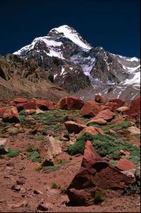 Aconcagua Mount on Mendoza Argentina