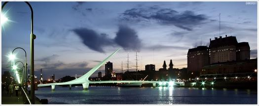 Puerto Madero Puente de la Mujer Bridge Buenos Aires Argentina