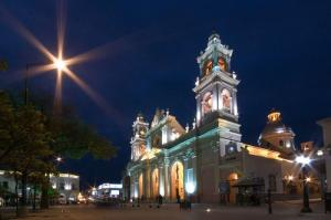 Salta Cathedral by night