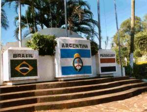 Tri Border Monument Brasil Argentina Paraguay