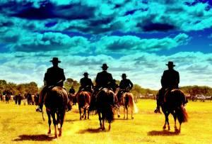 Gauchos Riding Away